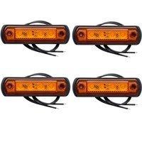 Набір 4шт. габаритні ліхтарі помаранчеві LED на гумовій підставці Horpol